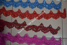 13-15yards/piece 9cm wide 12 colors Bridal Ribbon Accessories Sewing beaded lace trim(China (Mainland))