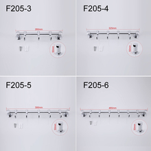 Zinc Alloy Chrome-plated Clothes Hook Flexible Slide Bathroom Towel Hanger 4 Choices F205-3/4/5/6(China (Mainland))
