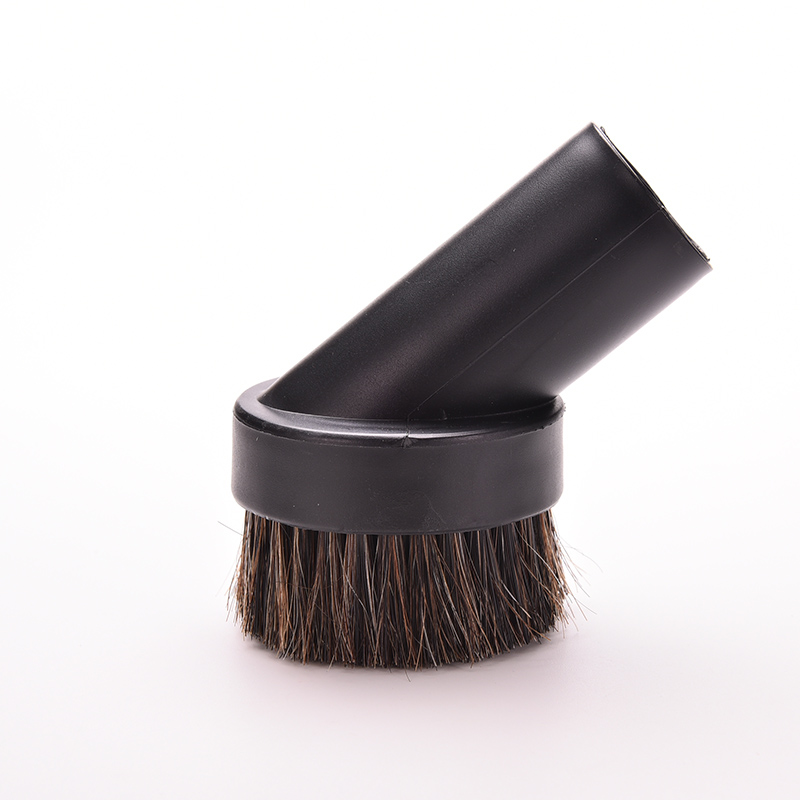 New Cleaning Brushes Dusting Brush Dust Tools Black 32mm Round Horse Hair Vacuum Cleaner Attachment Products 1PC(China (Mainland))