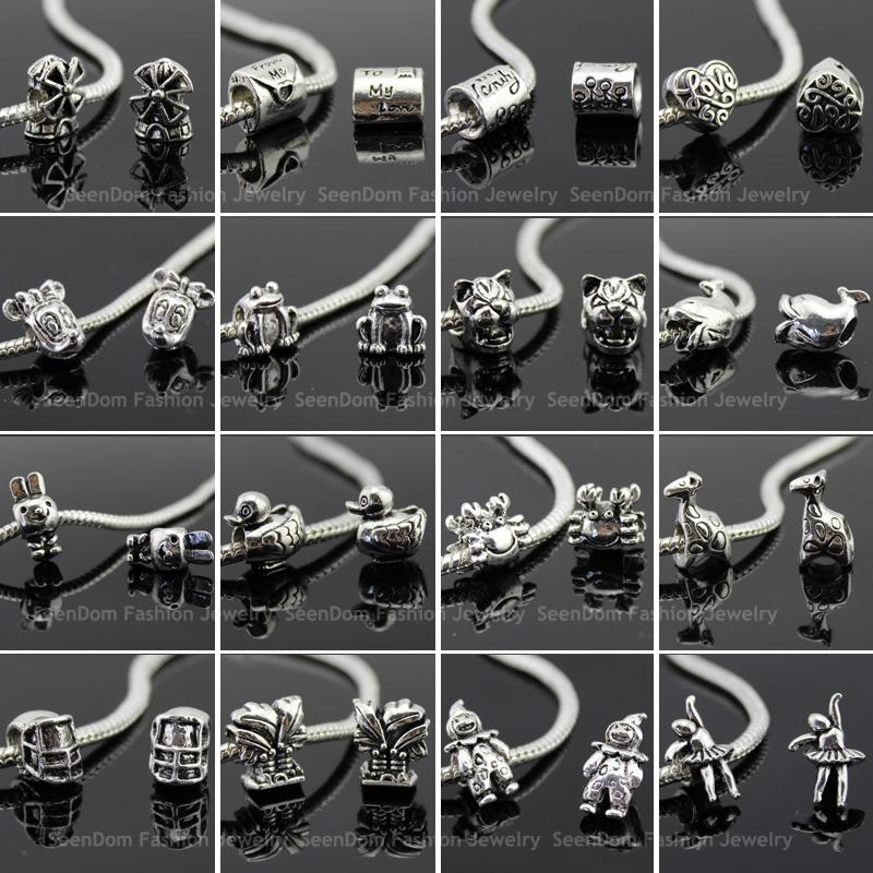 Mix Styles Bulk Quality Beads 2 925 Silver Big Core Handmade Fits DIY European Bracelet Necklace Jewelry - SeenDom & Charms store
