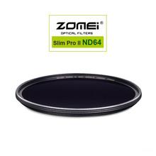 Zomei MC ND64 ND1.8 52 мм 58 мм 67 мм 72 мм 77 мм 82 мм Pro оптическое Стекло Нейтральной Плотности ND Фильтр для Canon Nikon Sony Pentax объектив(China (Mainland))