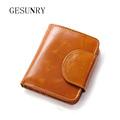 New Brand Design Fashion Genuine Leather Wallet High Quality Purse Women s Wallet Female Card GESUNRY