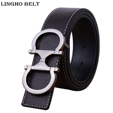 Buy 2017 New Arrival colors Genuine leather Mens & womens Belt Brand design Smooth Buckle Belts Men & women Jeans Belt LH-P49 for $9.65 in AliExpress store