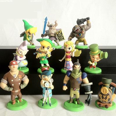 11PCS/SET Nendoroid The Legend of Zelda Link Gashapon Toys Action Figure 5-6CM Q Ver. Zelda Link Collectible Model Toy Doll(China (Mainland))