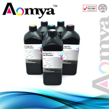 Aomya Any 5 PCS UV LED Ink for Printing on Soft Materials , 5x1000ml M/Y/K/C/White