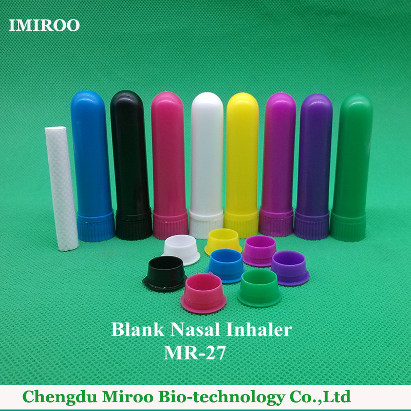 120sets/lot 2016 High Quality CE Approved 4 Full Parts Blank Aromatherapy Nasal Inhaler Sticks with 8 Rainbow Color
