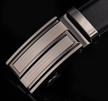 2014 new arrival wholesale auto buckles genuine leather men belts hot sale men brand leather belts