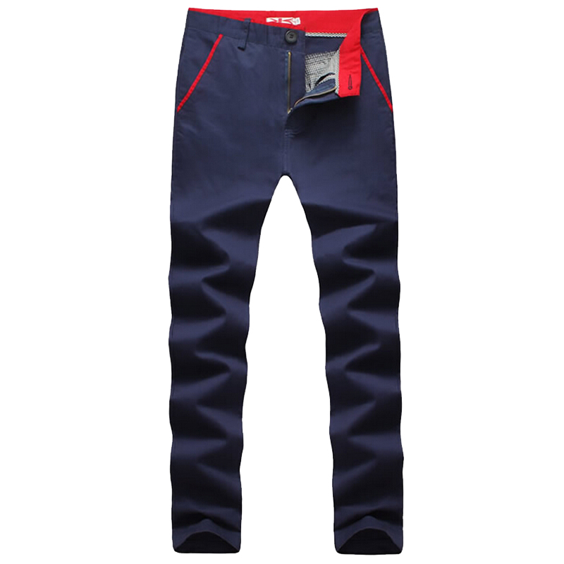 2016 New Fashion men pants cotton washed casual pants men straight business trousers 6 colors plus size 28~40 men's clothing(China (Mainland))