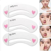 Grooming Shaping Template Eyebrow Drawing Card Brow Make Up Stencil 3 Styles