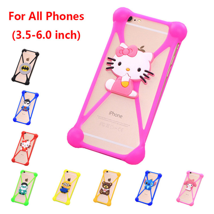 New Cute Cartoon Despicable Rabbit Stitch Ripndipp Sulley Hello Kitty Silicone Case For Huawei P8 lite Phone Cover Capa(China (Mainland))