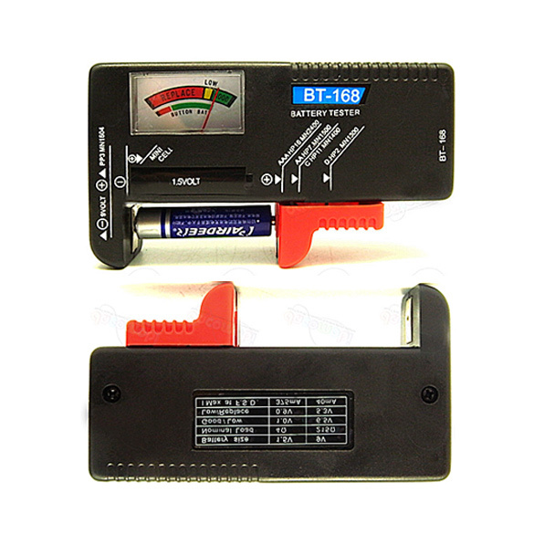 Double Easy-to-read Color-coded Universal Battery Tester Checker AA AAA 9V Button Multiple Sizes Battery Capacity Tester(China (Mainland))