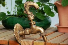 Decorative outdoor faucet rural animal shape garden Bibcock with antique bronze Fish tap for Garden washing(China (Mainland))