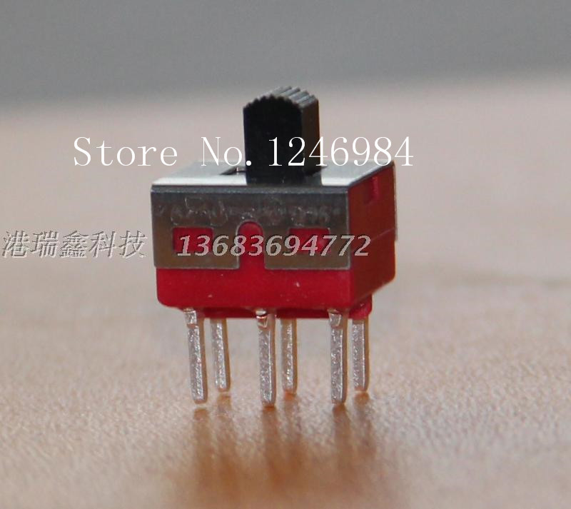 [SA]TS-11C -pin dual six feet two tranches small toggle switch slide switch Q15 Taiwan Deli Wei 5MD1--50pcs/lot<br><br>Aliexpress