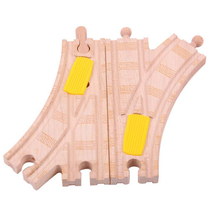 Christmas Gift 2pcs Short Curve Track Railway Pack fit Thomas and Brio Wooden Train Educational Boy/ Kids Toy(China (Mainland))