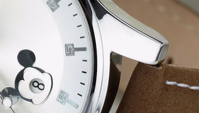 ДИСНЕЙ Женщины и Мужчины модельер часы МИККИ дата Часы Водонепроницаемые Кварцевые часы Синий Наручные Часы Relogio Masculino