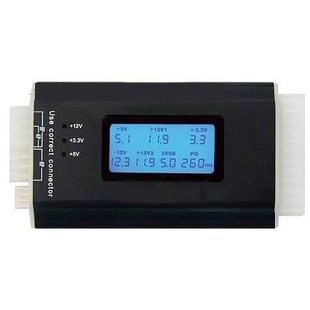 Atx power supply tester lcd display screen computer case power supply diagnostic tester free shipping(China (Mainland))