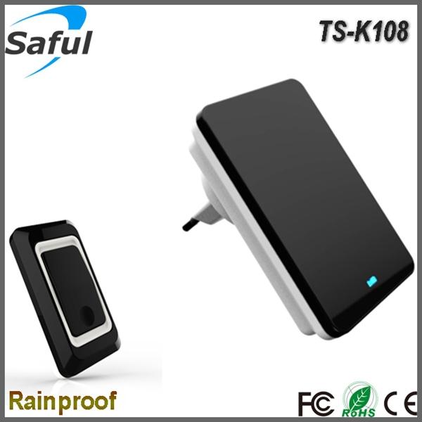 Гаджет  Hot-Sale EU Plug 220V 36 Tones Smart Home Door bell Receiver 300m Range High and Low volume Waterproof Button Wireless doorbell  None Аппаратные средства