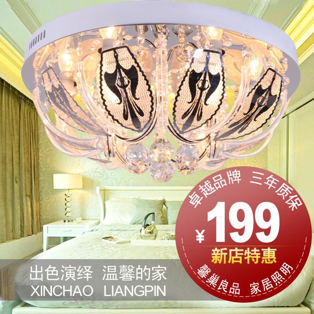 Lighting lamps led crystal lamp living room circle ceiling light modern fashion