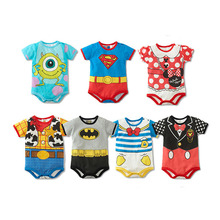 summer style short sleeve baby rompers / cartoon baby boy clothes / baby clothing girl /roupas de bebe infantil