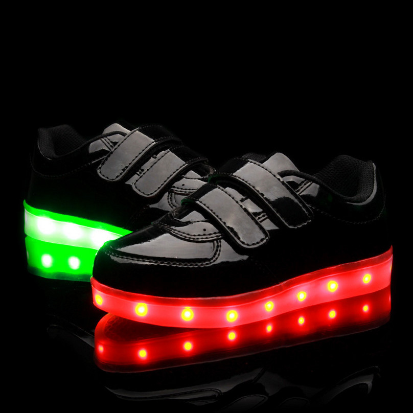2016New Children Shoes With Light Girls Chaussure Lumineuse Enfant Pour Fille Led Kids Light Up Sneakers Boys Led Shoes Kids USB<br><br>Aliexpress