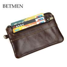 BETMEN Vintage Genuine Leather Men Coin Purse Small Cowhide Leather Pocket Wallet Designer Brand(China (Mainland))