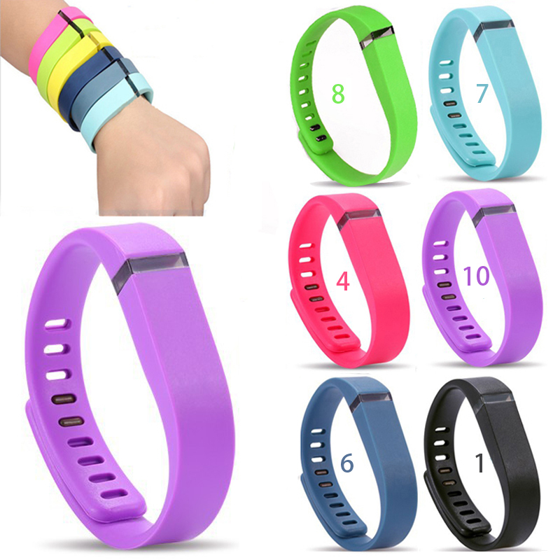 5piece/lot Small & Large size Replacement Rubber Band Fitbit Flex Wireless Activity Bracelet Wristband With Metal Clasp 10 color(China (Mainland))