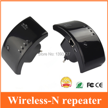 Black New 300M 802.11n/b/g Network Wireless WiFi repeater Router WLAN Repeater Wi Fi Antennas Signal Boosters Range Extender