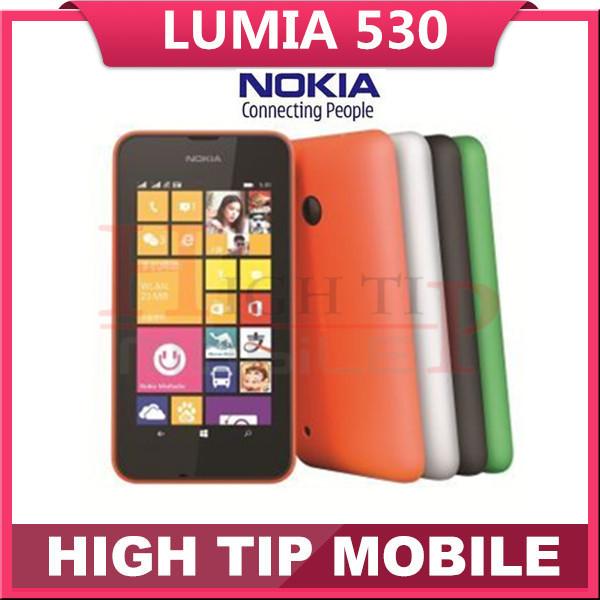 Original unlocked Nokia Lumia 530 Quad Core Dual Sim Window Phone RAM 512MB ROM 4GB 5MP Camera 3G WCDMA Cell Phone Freeshipping(China (Mainland))