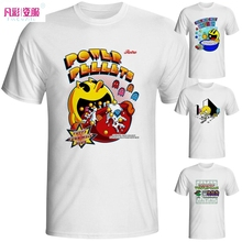 Buy Funny Pacman T-shirt Brand Casual Pac Man White Printed T Shirt Nostalgic Parody Video Game Tshirt Men Summer Fashion Style Tee for $7.65 in AliExpress store