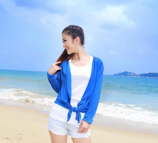 Бесплатная доставка 2015 весна и осень модальные свитер женский защита от солнца одежда кондиционер рубашки мыс стиль кардиган