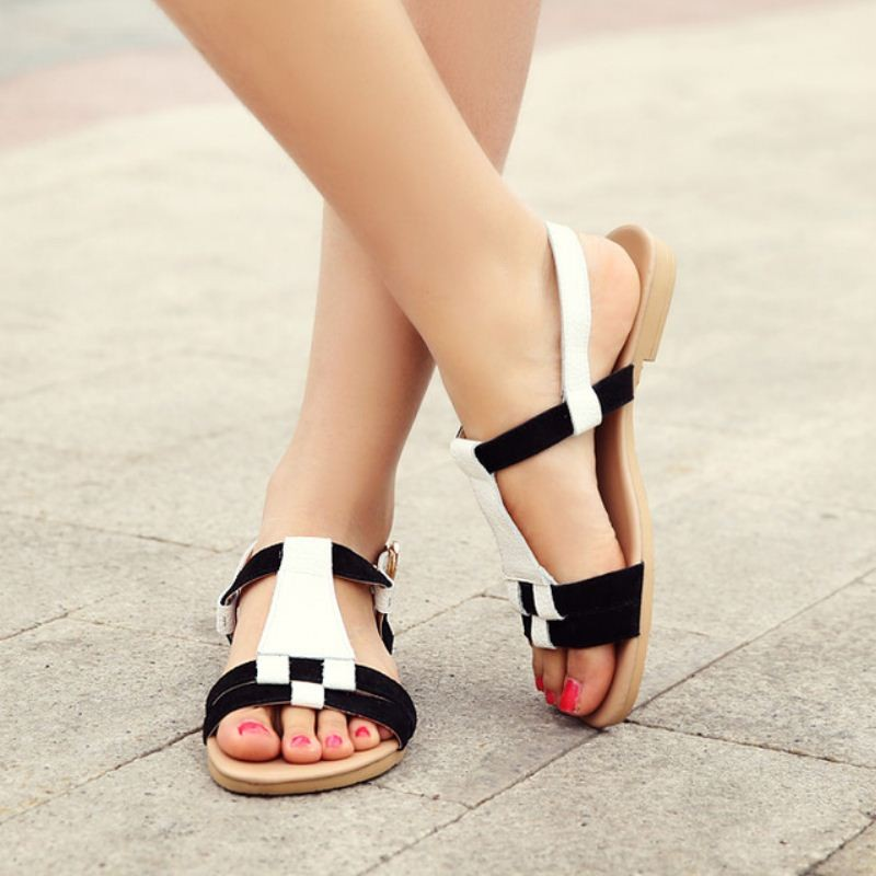 Ayakkabı Kadınlar Rahat Gerçek Deri Sandalet Bohemia Kadın Ayakkabı yüksek topuklu Sandalias Bayan Elbise Topuklu Ayakkabı Boyutu 35-39 PA00484