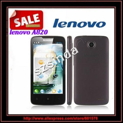 Original Lenovo A820 MTK6589 Quad Core Cell phones Android 4.1 1GB RAM 4GB ROM 4.5inch IPS 8MP camera GPS WIFI multi language(Hong Kong)
