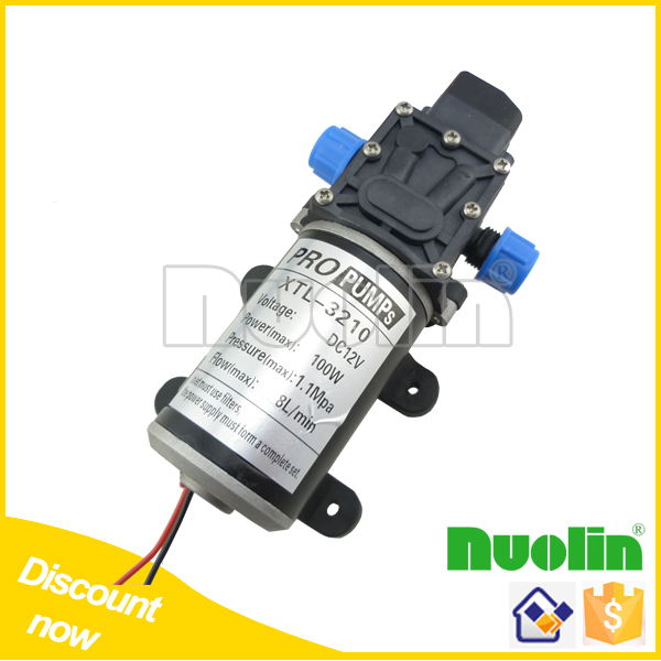 DC 100W Automatic switch Diaphragm high pressure small Water Pump 12v 8L/min(China (Mainland))