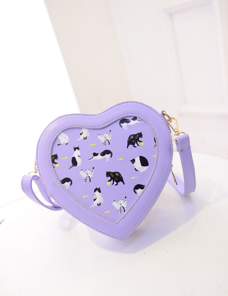 Women Fashion Leisure Shoulder &amp; Crossbody Bags Animal Prints Personality Heart Shaped Satchel Bag.D381D3<br><br>Aliexpress