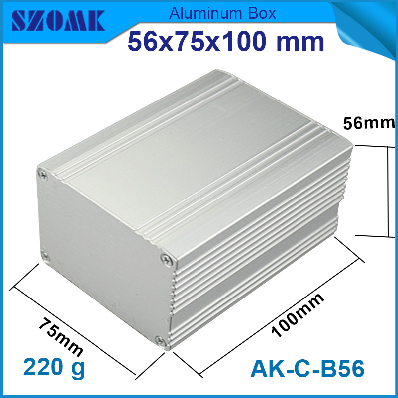 10 pcs/lot aluminium container manufacturers aluminium box project 56*75*100mm aluminium box project(China (Mainland))