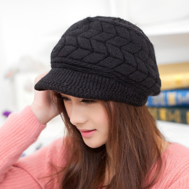 2014 New Arrival Soft Peaked Cap Women Hat Winter Caps Knitted Hats For Woman 8 Colors(China (Mainland))