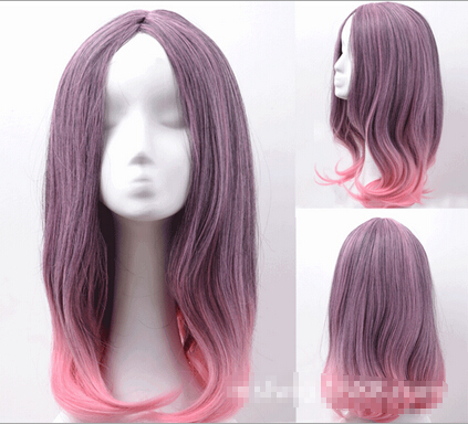 Divided Europe pink PUNK WIG wholesale Cosplay Harajuku wig in gradient daily highlights heat resistant Ladys WIGS<br><br>Aliexpress