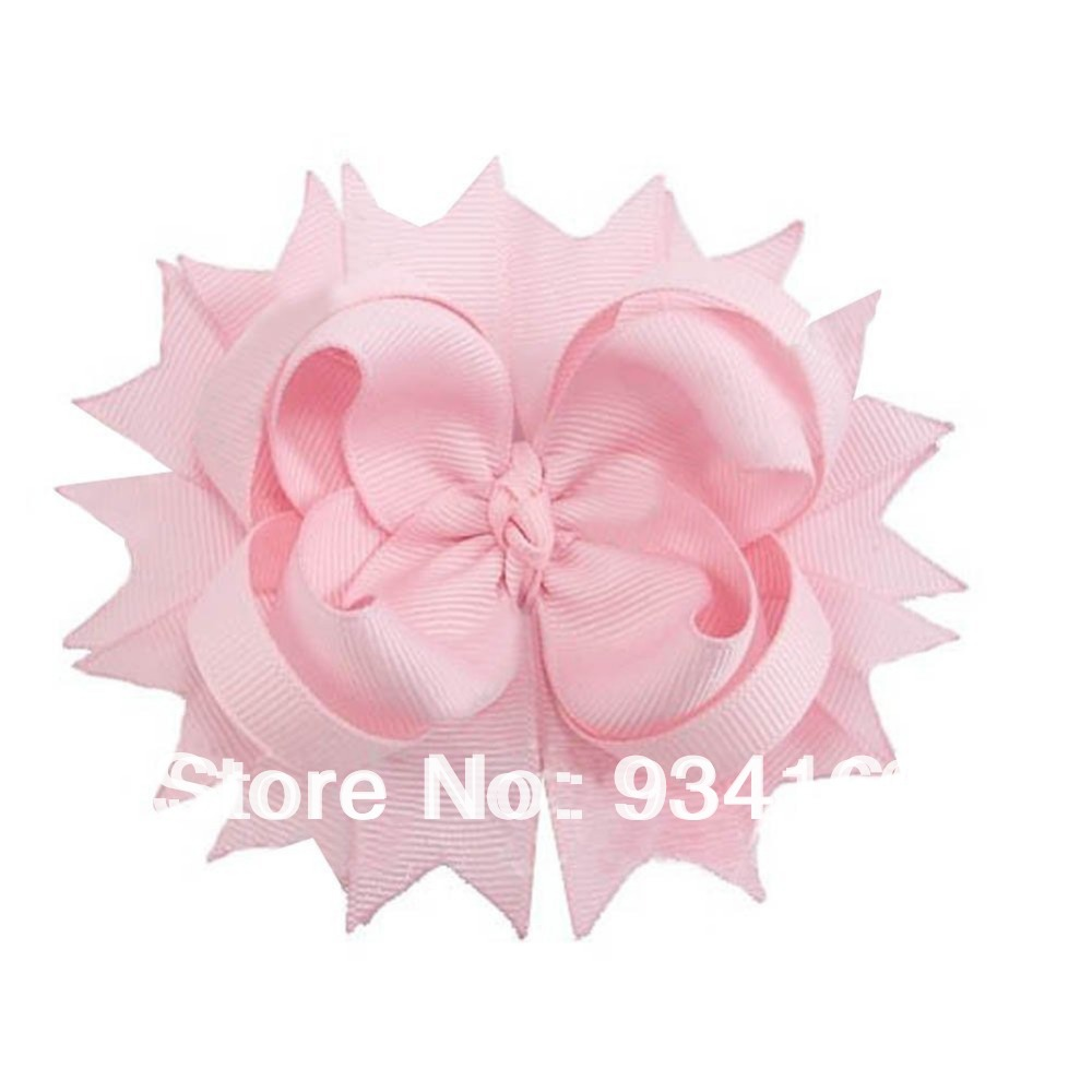 """Wholesale 100pc 4.5"""" Solid Grosgrain Spike bow Clips Baby Children's Accssory 36 choose 10colors(China (Mainland))"""