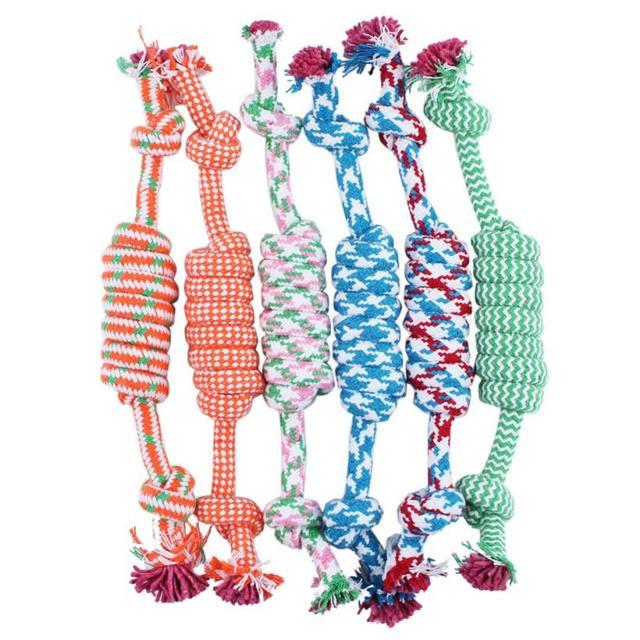 Горячие продажи Игрушки Для Животных кошка игрушки для собак смешно Жевать узел Многоцветный Хлопок Кости Веревку Собака игрушки Домашних собак pet поставки