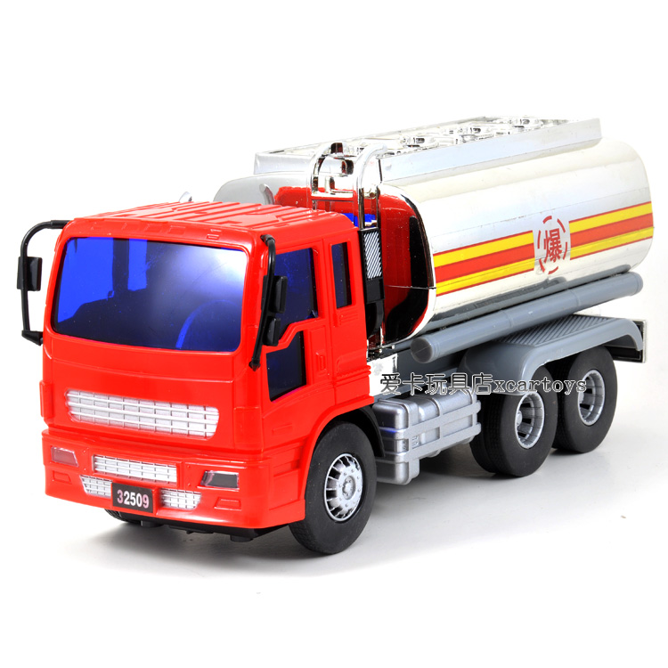 Free Shipping Friction car 32509 thickening Medium oil tank truck mini toy car(China (Mainland))