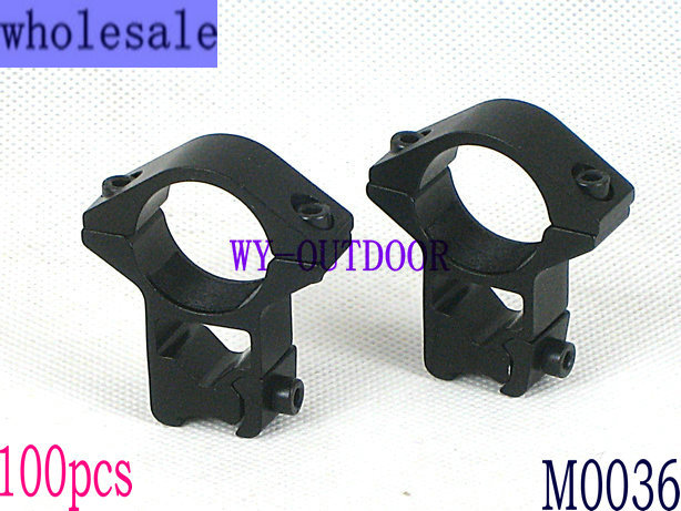wholesale 100pcs High/ narrow WEAVER RIFLE / PISTOL SCOPE MOUNTING RINGS MOUNTS (25.4mm Dia / for 11mm rail) M0036(China (Mainland))