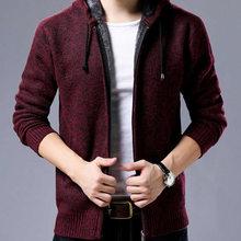2019 новые мужские свитера Осень Зима теплые кашемировые шерстяные свитера на молнии мужские повседневные трикотажные свитера(China)
