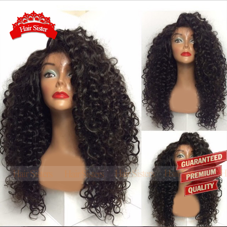 Top Quality Afro Kinky Curly Heat Resistant Synthetic Lace Front Wigs For African American Women Wig Synthetic Wigs FreeShipping