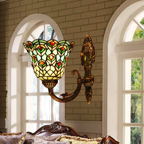 Tiffany style stained glass wall lamp wall light(China (Mainland))