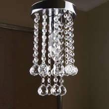 1 LED Light Crystal Chandelier Light Fixture Small Clear Crystal Lustre Lamp for Aisle Stair Hallway Diameter 15cm(China (Mainland))