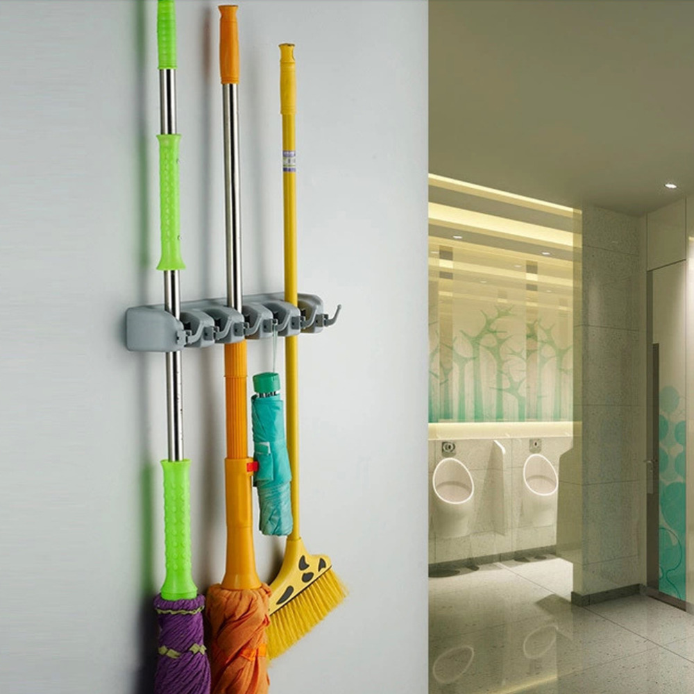 Keuken Organizer : Mop and Broom Holders Wall Mounted