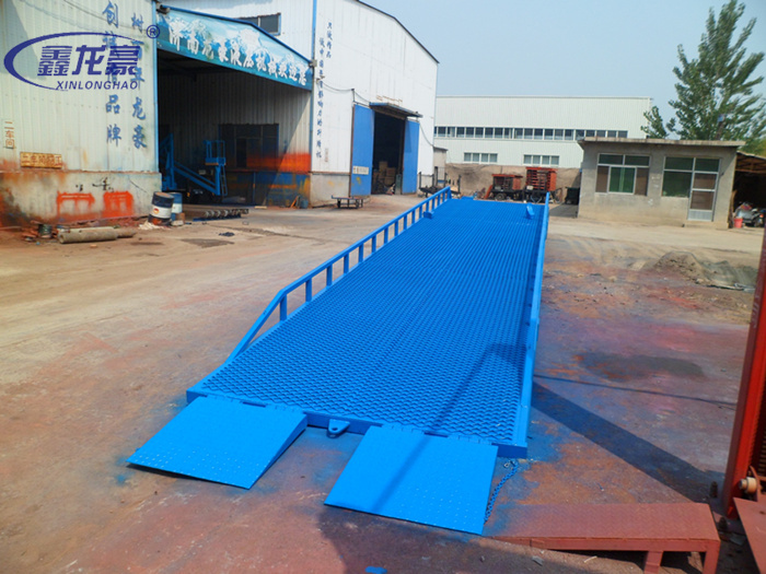 Forklift truck used load unload mobile hydraulic yard ramp load ramp(China (Mainland))