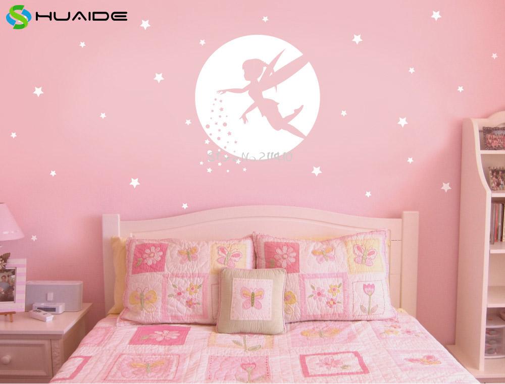 Fairy muurstickers koop goedkope fairy muurstickers loten van chinese fairy muurstickers - Slaapkamer kleur meisje ...