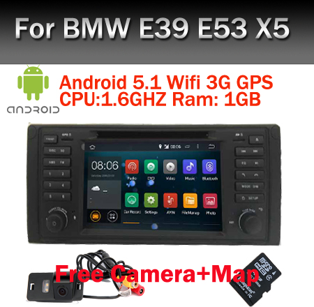 "Android 5.0.1 Quad Core GPS Navigation 7"" Car DVD Player for BMW E39 5 Series 97-07 Range Rover 02-05 with Bluetooth RDS Canbus(China (Mainland))"