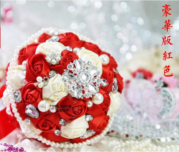 Popular crystal bead bouquet buy cheap crystal bead for Bouquet de fleurs 2017